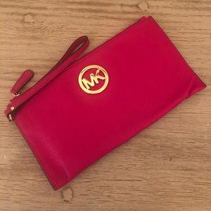 MK Pink Wristlet/Clutch